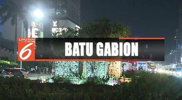 Dinas Kehutanan DKI Jakarta membantah instalasi batu gabion di Bundaran HI menggunakan terumbu karang.