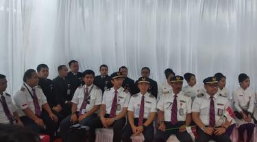 Lion Air Sambut 18 Awak Kabin Pesawat Pengevakuasi WNI dari Wuhan