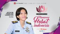 Kapten Penerbang Fariana Dewi Djakaria Putri, penerima Anugerah Perempuan Hebat 2017 (Liputan6/Deasy Rika Yanti)