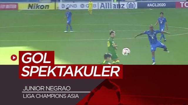 Berita video gol spektakuler dari pemain Ulsan, Junior Negrao saat melawan Beijing FC di Liga Champions Asia, Kamis (10/12/20).