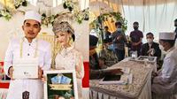 Viral Pasangan Pengantin Asal Bekasi Ini Menikah Dengan Mahar Ikan Cupang. (Sumber: Instagram/apandi_ahmad)