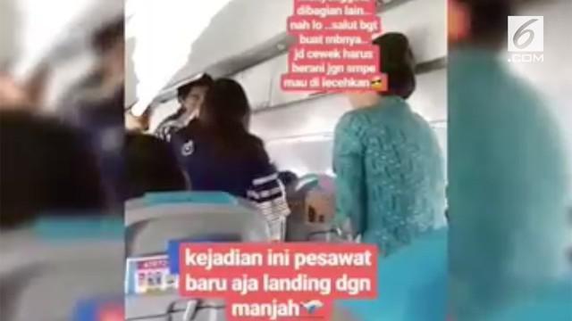 Lagi, seorang wanita mengaku menjadi korban pelecehan seksual. Ini terjadi ketika si wanita sedang tidur di dalam pesawat.