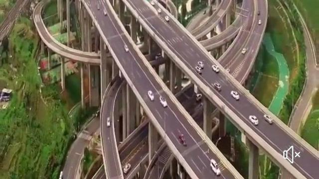Unik, Jalan Raya di Tiongkok Ini Malah Mirip Lintasan Rollercoaster