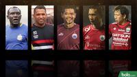 Trivia Pemain Tua yang Mencari Peruntungan di Liga 1 2019 (Bola.com/Adreanus Titus)