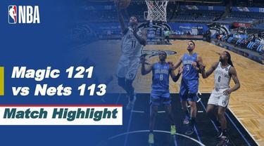 Berita video highlights laga musim reguler NBA 2020/2021 antara Orlando Magic melawan Brooklyn Nets yang berakhir dengan skor 121-113, Sabtu (20/3/2021) pagi hari WIB.