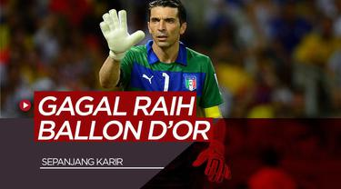 Vlog Bola.com Gianluigi Buffon, Andres Iniesta dan 3 Pemain yang Tidak Pernah Mendapatkan Ballon d'Or