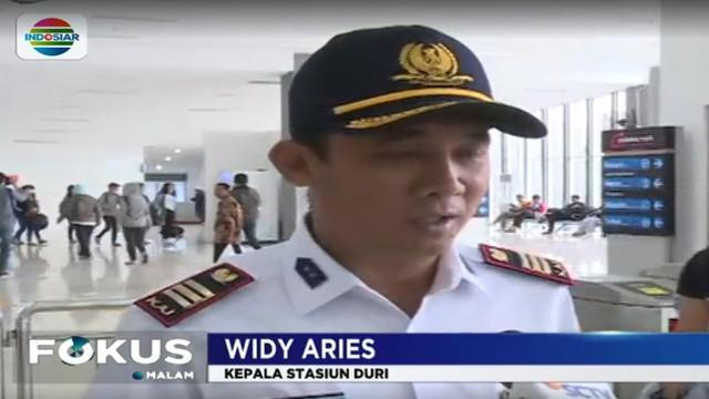Kepala Stasiun Duri Widy Aries menyatakan saat ini kepadatan arus penumpang sudah jauh berkurang setelah dilakukan sejumlah langkah antisipasi.