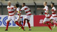 Ia juga menjadi penentu kemenangan Madura United 2-1 atas PSS Sleman dengan gol tendangan kerasnya lewat eksekusi bola mati yang menjadi ciri khasnya sejak masih berseragam Persija Jakarta pada 2018. (Bola.com/M Iqbal Ichsan)