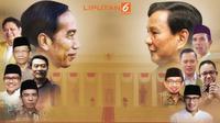 Banner Infografis bursa cawapres Jokowi versus Prabowo.
