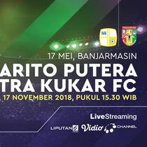 PS Barito putera vs mitra Kukar FC