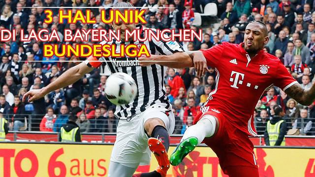 Video 3 hal unik dari laga Eintracht Frankfurt vs Bayern Munchen pada kompetisi Bundesliga pekan lalu.