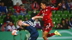 Laga Bremer vs Bayern Munchen yang tersaji di Weserstadion, Kamis (26/8/2021) merupakan pertemuan pertama kedua tim sepanjang sejarah. (Foto: AFP/Patrik Stollarz)