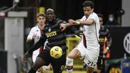Romelu Lukaku berhasil menjebol gawang Genoa pada menit pertama pertandingan. (Foto: AFP/Filippo Monteforte)