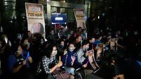 Aksi diam 700 detik untuk Novel Baswedan di KPK. (Liputan6.com/Fachrur Rozie)