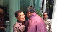 Wapres Jusuf Kalla menerima kunjungan Presiden ke 6 RI Susilo Bambang Yudhoyono (Liputan6.com/ Silvanus Alvin)