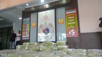 Barang bukti sabu 1,6 ton tiba di Jakarta (Liputan6.com/ Nafiysul Qodar)