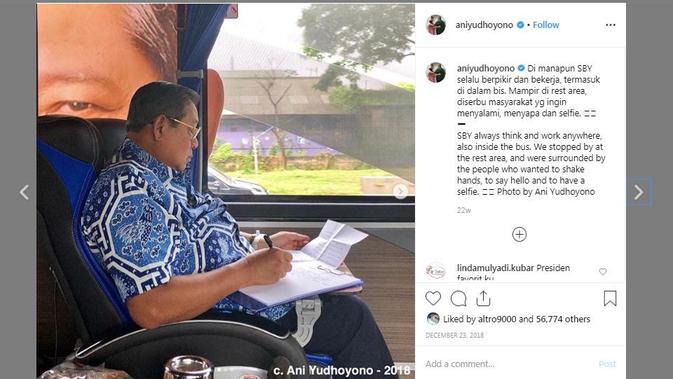 Hasil jepretan Ani Yudhoyono yang diunggah melalui akun Instagramnya. (Instagram @aniyudhoyono)