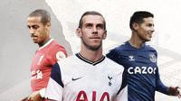 Thiago Alcantara, James Rodriguez dan Gareth Bale. (Bola.com/Dody Iryawan)