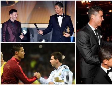 Momen Keakraban Cristiano Ronaldo dan Lionel Messi yang Pernah Tertangkap Kamera