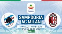 Serie A Sampdoria Vs AC Milan (Bola.com/Adreanus Titus)