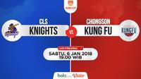 CLS Knights Vs Chongson Kung Fu (Bola.com/Adreanus Titus)