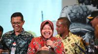 Wali Kota Surabaya Tri Rismaharini bersama Forum Pimpinan Daerah (Forpimda) Surabaya menghadiri sekaligus membuka acara Papua Festival 2019 yang bertajuk  Life, Art, Culture. (Foto: Liputan6.com/Dian Kurniawan)