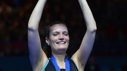 1. Tine Rasmussen - Legenda tunggal putri Denmark ini pernah menempati peringkat satu dunia di tahun 2008. Gelar masters pun banyak diraih oleh pebulutangkis yang acap kali mengumbar jump smash keras ke lawan. (AFP/Ben Stansall)