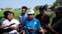 Kepala BBWS Ciliwung Cisadane meninjau Bendung Pasar Baru Cisadane