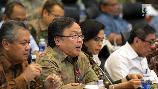 Sri Mulyani, Yasonna Laoly, dan Bambang Brodjonegoro Rapat Kerja Bersama DPR