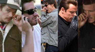 Berikut foto-foto selebriti Hollywood yang ketahuan mengupil di depan umum: (Istimewa)