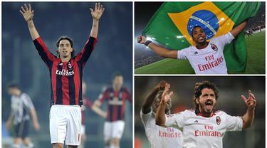 Pada musim 2010/2011, AC Milan berhasil meraih gelar juara Liga Italia untuk yang ke-18 kalinya sekaligus yang terakhir. Berikut ini tujuh bintang AC Milan saat terakhir kali menjadi juara Serie A. (Kolase Foto dari AFP)