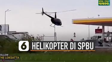 SPBU adalah tempat untuk mengisi bahan bakar transportasi darat pada umumnya. Tetapi bagaimana jika ada helikopter yang mengisi bahan bakar di SPBU.