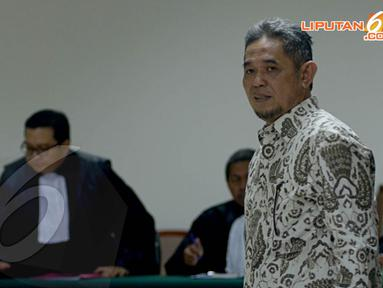 Selasa (8/4/14), mantan Direktur Operasi PT Adhi Karya, Teuku Bagus Muhammad Noor jalani sidang perdana kasus korupsi Hambalang di Pengadilan Tipikor, Jakarta (Liputan6.com/Johan Tallo)