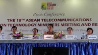 Konferensi pers ASEAN TELMIN ke-18 di Ubud, Bali, Kamis (6/12/2018). Liputan6.com/ Andina Librianty
