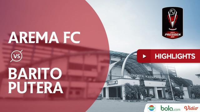 Berita video highlights Piala Presiden 2019 yang mempertemukan Arema FC menghadapi Barito Putera yang berakhir dengan skor 3-2.