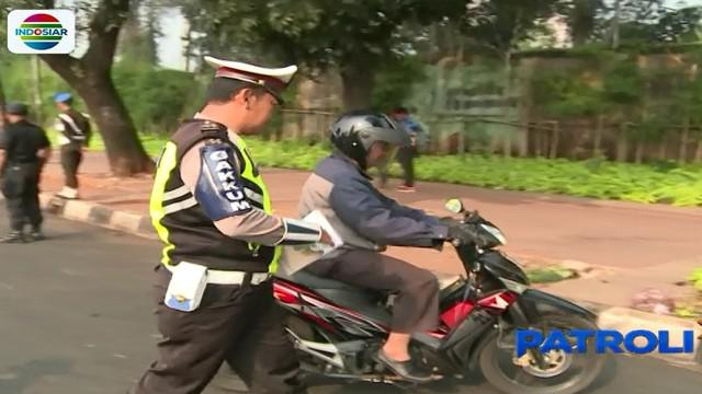 Hingga hari ke10 pelaksanaan operasi, pelanggaran lalu lintas masih didominasi pengendara sepeda motor.