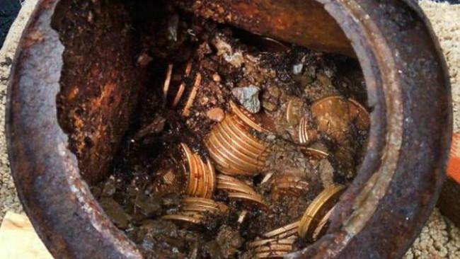 Temuan koin di Saddle-Ridge. (Sumber AP/Kagin's, Inc.)