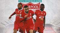 Liverpool - Ryan Gravenberch, Klian Mbappe, Ousmane Dembele (Bola.com/Adreanus Titus)