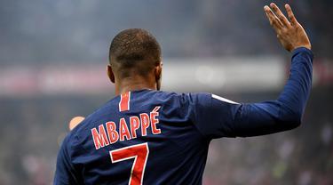 FOTO: Kalahkan Neymar Jr, Kylian Mbappe Terbaik di Liga Prancis