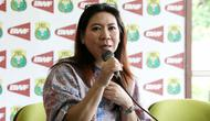 Manajer tim Indonesia, Susy Susanti, buka suara setelah Tim Merah-Putih tersingkir pada fase grup Piala Sudirman 2017 di Gold Coast, Australia. (PBSI)