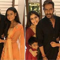 Kajol dan Ajay Devgn bersama dua anaknya, Nysa dan Yug. (Instagram)