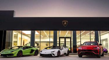 Line up supercar Lamborghini