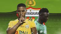 Bhayangkara FC - Renan Silva, Ezechiel N'Douassel (Bola.com/Adreanus Titus)