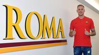 AS Roma resmi mendapatkan kiper timnas Swedia, Robin Olsen, pada Selasa (24/7/2018). (dok. AS Roma)
