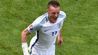 Striker tim nasional Inggris, Jamie Vardy. (AFP/Philippe Huguen)