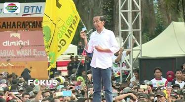 Kampanye terbuka di Balikpapan dan Mamuju, Joko Widodo kembali perkenalkan tiga kartu sakti andalan paslon nomor urut 01.