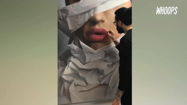Seorang pelukis asal Jerman menggabungkan teknik melukis dengan seni fotografi. Hal ini yang akhirnya membuat dirinya terkenal