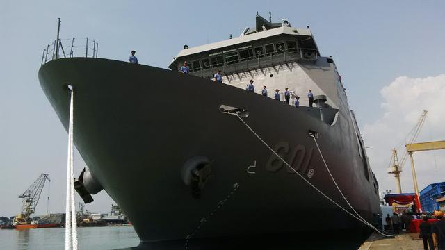 PT PAL Melepas Perdana Kapal Perang Angkut Pesanan Filipina