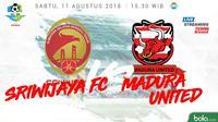 Liga 1 2018 Sriwijaya FC Vs Madura United (Bola.com/Adreanus Titus)