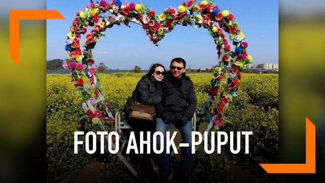 Di hari Valentine beredar foto romantis Basuki Tjahaja Purnama dengan Puput.